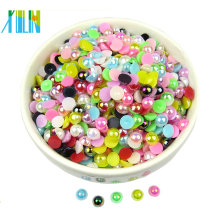 loose mix color half pearl beads in bulk FP09