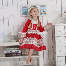 baby girl snowflake red lace princess dresses