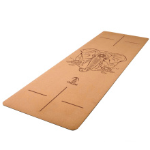Hot selling eco freindly yoga mat  stop slippery soft nature cork rubber yoga mat