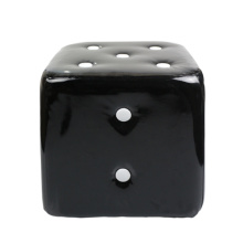 black dice wood stools