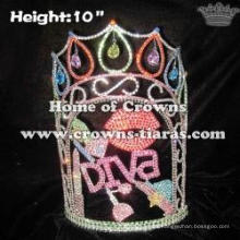 Wholesale Custom Crystal Lipstick Pageant Crowns