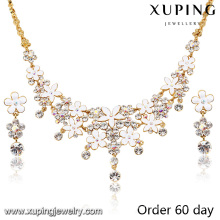 S7--Xuping Custom-Made 18K Gold Plated Jewelry Set For Wholesale Price