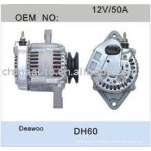 Liste de prix d'alternateur de moteur pour DAEWOO DH60