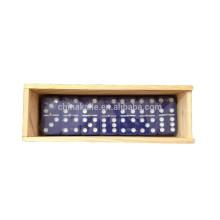 Boîtes en bois personnalisées dominos en plastique colorés