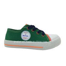 Zapatos de lona de los niños de la impresión en blanco Sneaker (X164-S & B)