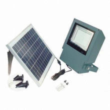108-piece LED Outdoor Super-bright Solar Floodlight, 12V/7A Rechargeable Lead-acid Battery