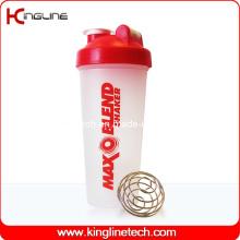 600ml Plastik Shaker Flasche Großhandel mit Blender Mixer Ball Inside (KL-7010)