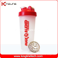600ml Plastik-Protein-Shaker-Flasche mit Mixer-Mischer-Kugel-Innenseite