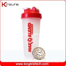 Bouteille de récolte de protéines en plastique de 600 ml avec mélangeur Mixer Ball Inside