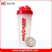 600ml Plastic Protein Shaker Bottle with Blender Mixer Ball Inside