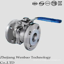 Válvula de bola flotante de brida de acero inoxidable ANSI clase 150