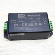 MEANWELL 1W a 60W miniatura con terminal de tornillo convertidor dc 60W IRM-60-12ST