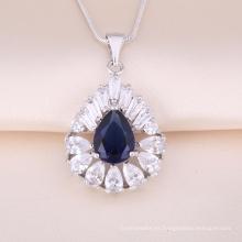 Colgante de joyería de plata al por mayor colgante de cristal de plata