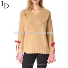 Alta qualidade manter quente camisola das mulheres elegantes