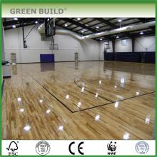 Los deportes de alta calidad utilizaron el suelo de madera de roble sólido blanco para la cancha de básquet