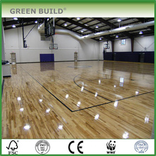 High Quality Sports Used White Solid Oak Wood Flooring For Basketball Court