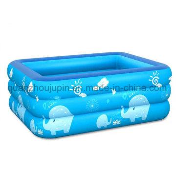 Kundenspezifische PVC-Kinder scherzt faltenden aufblasbaren Swimmingpool