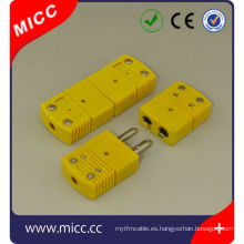 tipo k conector de termopar estándar eléctrico