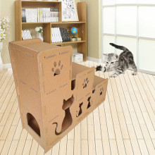 Top for Primary Color Corrugated Paper Cat House Corrguated Paper Cat House supply to Saint Vincent and the Grenadines Manufacturers