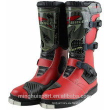 Estilo caliente de cuero de la motocicleta a prueba de agua Zapatos de China Motocross Racing Boots