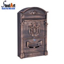 Wall mounted new design cast iron letter box