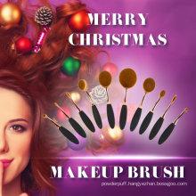 2017 New Christmas Gift Oval Toothbrush Cosmetics Makeup Brush