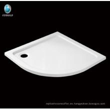 Baño de la venta caliente Sector Corner Plato de ducha de acrílico