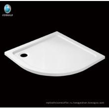 Горячий продавать ванная комната сектор угловой акриловый душевой поддон