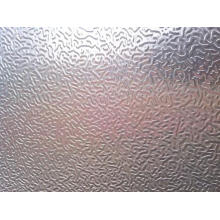Hammered aluminum sheet for lighting