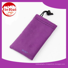 Wholesale Price Microfiber Cellphone Pouch with Drawstring