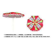 Outdoor Tilt Machanism Advertising Foldable Beach Umbrella (YSBEA0027)