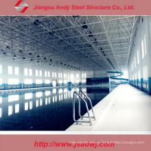 Estructura de acero ligero del diseño para la cubierta de piscina cubierta