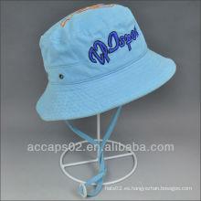 100% algodón sombrero de cubo para niños