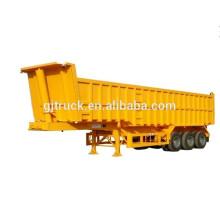 China Remolque trasero del camión del volquete del camión del volquete del extremo del cilindro del HYVA y del remolque trasero del remolque del camión volquete del remolque que inclina