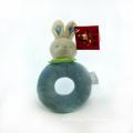 Soft Boa Plush Baby′s Ring Rattle