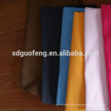 soft handfeel TC 80% polyetser 20% algodão tecido tingido soild / tecido para camisas