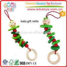 3 años juguete de juguete de juguete de regalo verde y rojo de color hizo juguete de madera de bricolaje para la venta