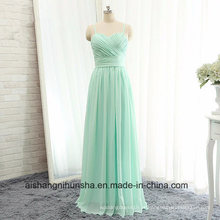 Mulheres Chiffon sem mangas Backless Evening Party Prom Dress