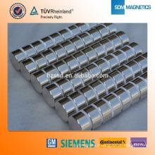 Aimant cylindrique haute performance N35 Neodymium pour sacs