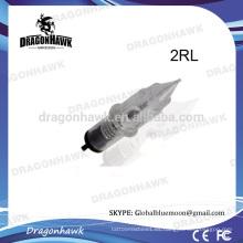 Cirugía 316 agujas de tatuaje de acero Round Liner 2RL