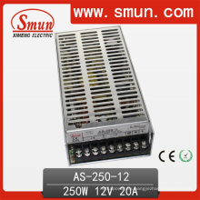 250W 12V / 15V / 24V Mini tamaño salida única fuente de alimentación de conmutación