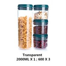 Frascos de plástico vazios transparentes com tampa de mola de compressão
