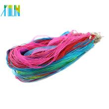Collar del cordón de cera de la cinta de Organza de 19 pulgadas con el corchete de la langosta en la acción 100pcs / pack, ZYN0009-mix