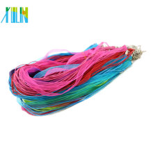 19Inch Organza Ribbon Wax Cord necklace with Lobster Clasp in Stock 100pcs/pack, ZYN0009-mix