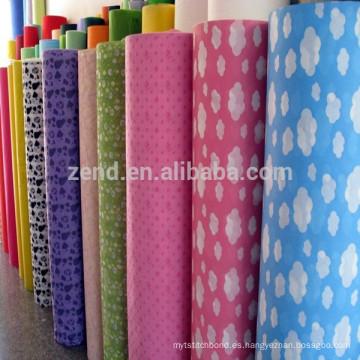 Conjunto desechable de tela de sábana de poliéster 100% no tejida