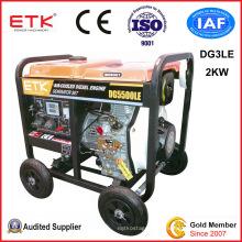 2kw Open Type Diesel Generator (green fan case)