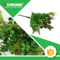Pulverizador de tecido artificial verde eco-friendly da planta com teste à prova de fogo