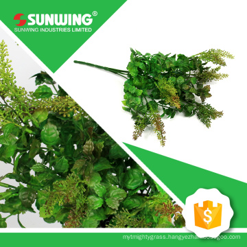 eco-friendly green artificial fabric spray of plant with fireproof test