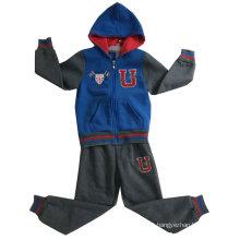 Conjuntos de ternos do esporte do menino da forma do algodão na roupa dos miúdos Hoodies Swb-109 das crianças do inverno