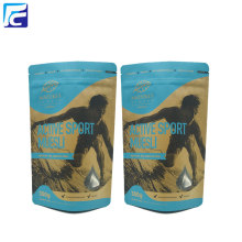 Ziplock Brown Craft Bolsa de papel con ventana transparente